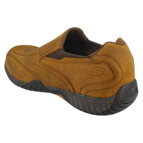 Cordones Cuero Skechers Sendro Casuales Zapatos Sin 65287 Bascom Hombre Zxfn0qq
