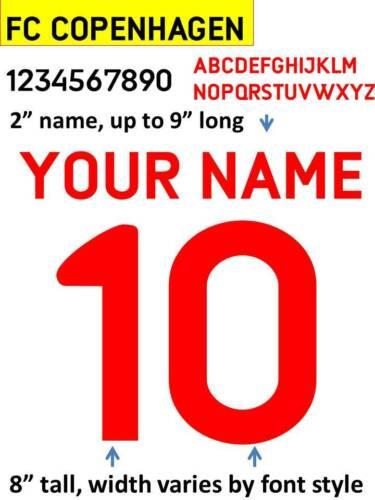 COPENHAGEN2015 IRON ON custom heat press transfer numbers soccer jersey DIY