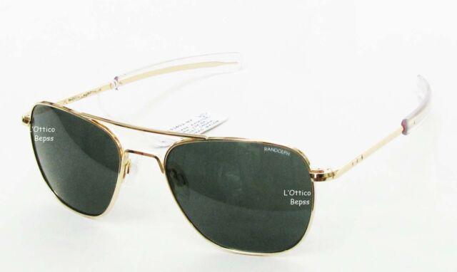 RANDOLPH OCCHIALI DA SOLE mod:AVIATOR 58 GOLD lente AGX AF81614