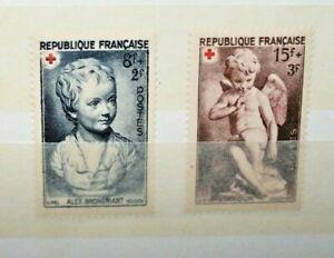 FRANCIA-FRANCE-1950-034-RED-CROSS-CROCE-ROSSA-034-MH-SET-CAT-B