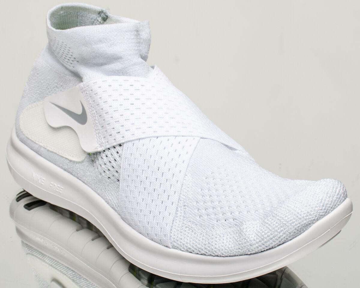 Nike Free RN Motion Flyknit 2017 men running run shoes NEW white 880845-100