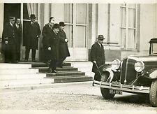 """""""LAVAL, ROLLIN, CATHALA ( Décès de Mr MAGINOT 1932)"""" Photo origin. G. DEVRED/ROL"""