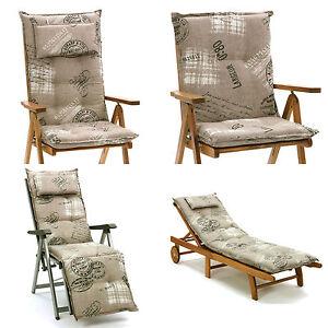 luxus auflagen f r hochlehner niederlehner relaxliegen und liegen in taupe braun ebay. Black Bedroom Furniture Sets. Home Design Ideas
