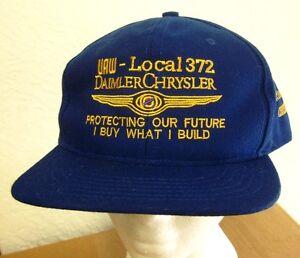 DAIMLER-CHRYSLER snapback blue hat UAW auto-maker Dodge embroidery ... 4854d039d13