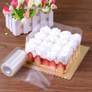 DIY-transparent-mousse-entourant-Edge-Wrap-ruban-a-patisserie-rouleau-de-gateau