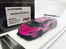 1/43 D&G MS Davis & Giovanni LB Widebody Aventador LP700 Chrome Flash Pink