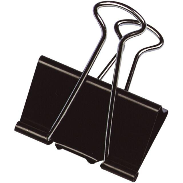 Q-Connect Foldback-Klammern schwarz 10 Stück