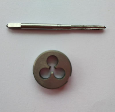 1pc HSS 1//4-20 Plug Left Tap and 1pc 1//4-20 Left Die Threading Tool