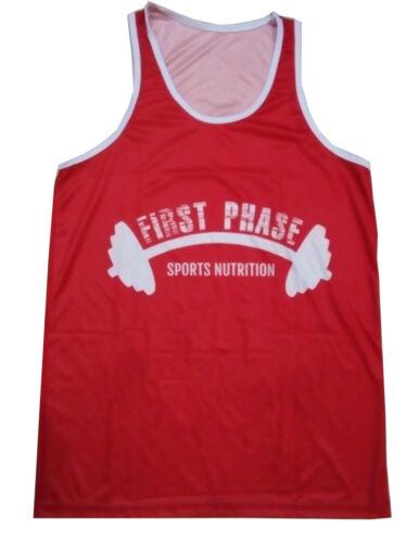 Tank Top Singlet Men Sleeveless Shirt Gym Bodybuilding Fitness Sublimated Vest