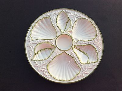 WONDERFUL VINTAGE OYSTER PLATE PLATTER SHELL AND SEAWEED MOTIVE - MADE IN ITALY & Oyster Plates collection on eBay!