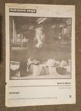 Suzanne Vega Tom's Diner 1987 press advert Full page 30 x 42 cm mini poster