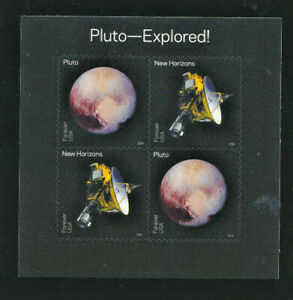 PLUTO-EXPLORED-Souvenir-Sheet-Mint-NH-United-States-Scott-5077-5078-Forever