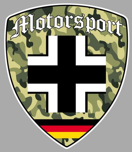 DEUTSCH MOTORSPORT ALLEMAGNE DUB VW CROIX AUTOCOLLANT STICKER 10cmx8,5cm BA233