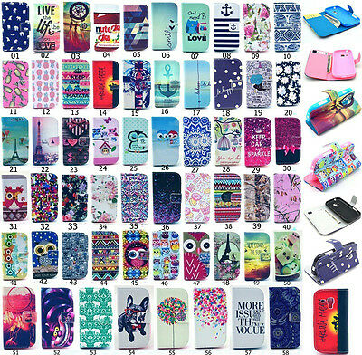 Fashion Lovely Pattern Flip Wallet  PU Leather Stand Case Cover For Samsung (58#