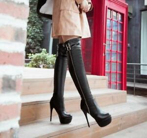 Hot Sale Sexy Ladies Stilettos Platform Over the Knee High Boots ... 7a168e3c1bd1