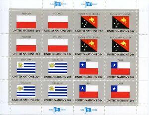 Distingué Timbre Nations Unis New-york / Drapeaux Neuf Feuille N° 420/423 ** Cote ++ 25 € DernièRe Technologie