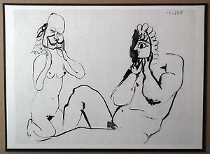 PABLO-PICASSO-1954-ENGRAVING-w-COA-CLASSIC-amp-UNIQUE-MUST-HAVE-VERY-RARE-ART