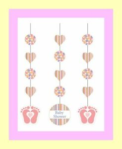 Baby-Shower-Decorating-Kit-Tiny-Toes-Pink-for-It-039-s-a-Girl-3-Feet-Tall-T010