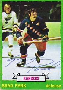Brad-Park-1973-Topps-Autograph-165-NY-Rangers