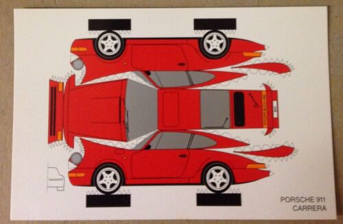 Porsche 911 Carrera Construction PostCard 1st On  Car Poster Own It!