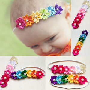 cute nice colorful six flower hair band baby girl infant