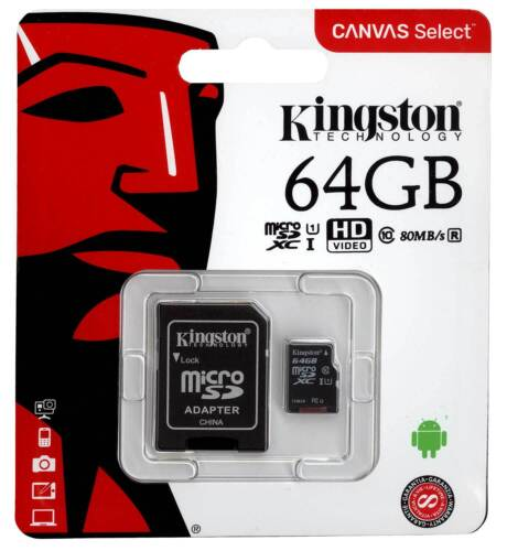adaptador Kingston 64gb microsdxc para Huawei y9 Prime 2019 móvil tarjeta de memoria