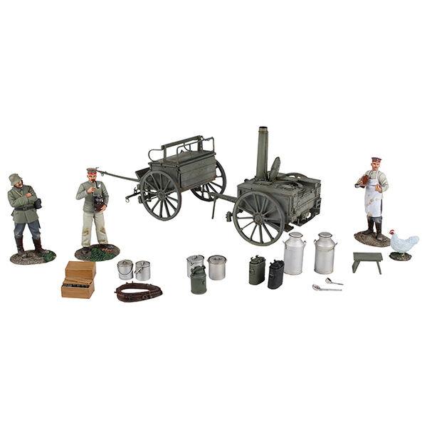 Britains Weltkrieg 1 23101 Deutsch 1908 HF11 Biegsam Feld Küche Set MIB