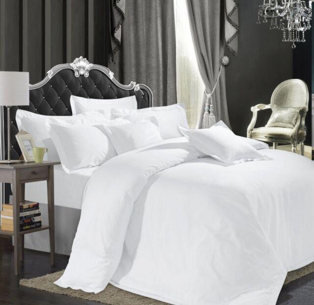 SHEET LUXERY  HOTEL QUALITY 250TC 100/% EGYPTIAN COTTON SATIN STRIPE DUVET SET