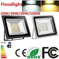 10W 20W 30W 50W 100W LED Floodlight IP65 Waterproof Cool/Warm White Outdoor Lamp