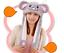 Animal Ears Wavy Hat Halloween Costume Christmas Cosplay Airbag inside to MOVE