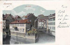 AK-Hannover-1901-Die-Insel-Louis-Glaser-Leipzig-stampsdealer