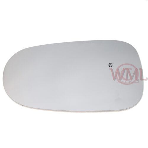 côté gauche ALMERA 2001 /> 2006 Convexe Aile//porte miroir en verre avec Sticky Pad