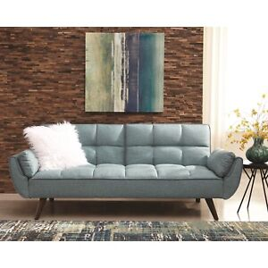 225 & Details about PERFECT FOR DORM ROOM TURQUOISE BLUE WOVEN SOFA BED FUTON LIVING ROOM FURNITURE