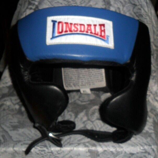 NIP  Lonsdale Amateur Competition Headgear Head Guard US Boxing Spec blueee Size XL  2018 store