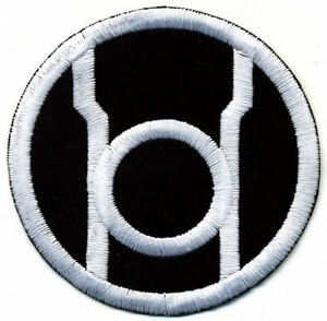 5-034-Red-Lantern-Corps-Classic-Embroidered-Patch-White-Thread-on-Black-Fabric