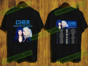 Cher Here We Go Again Tour Dates 2019-2020 T-Shirt Size S to 5XL