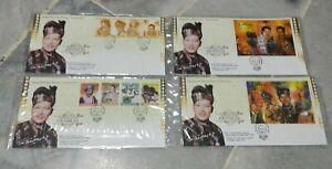 Malaysia-1999-P-Ramlee-Seniman-Agung-Artist-Supreme-stamps-amp-Ms-FDC-set-of-4
