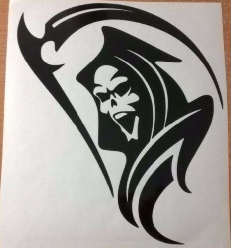 "large 21/"" car bonnet side sticker grim reaper skull graphic van decal wall art"