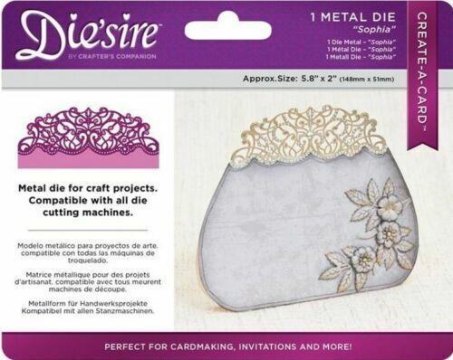 Die/'sire /'Create-a-Card/' Sophia Metal Die by Crafter/'s Companion NEW
