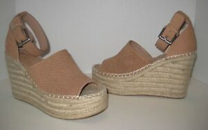 fa669e83240 Details about MARC FISHER LTD ADALYN ESPADRILLE WEDGE SANDAL BLUSH SUEDE  SIZE 8 M