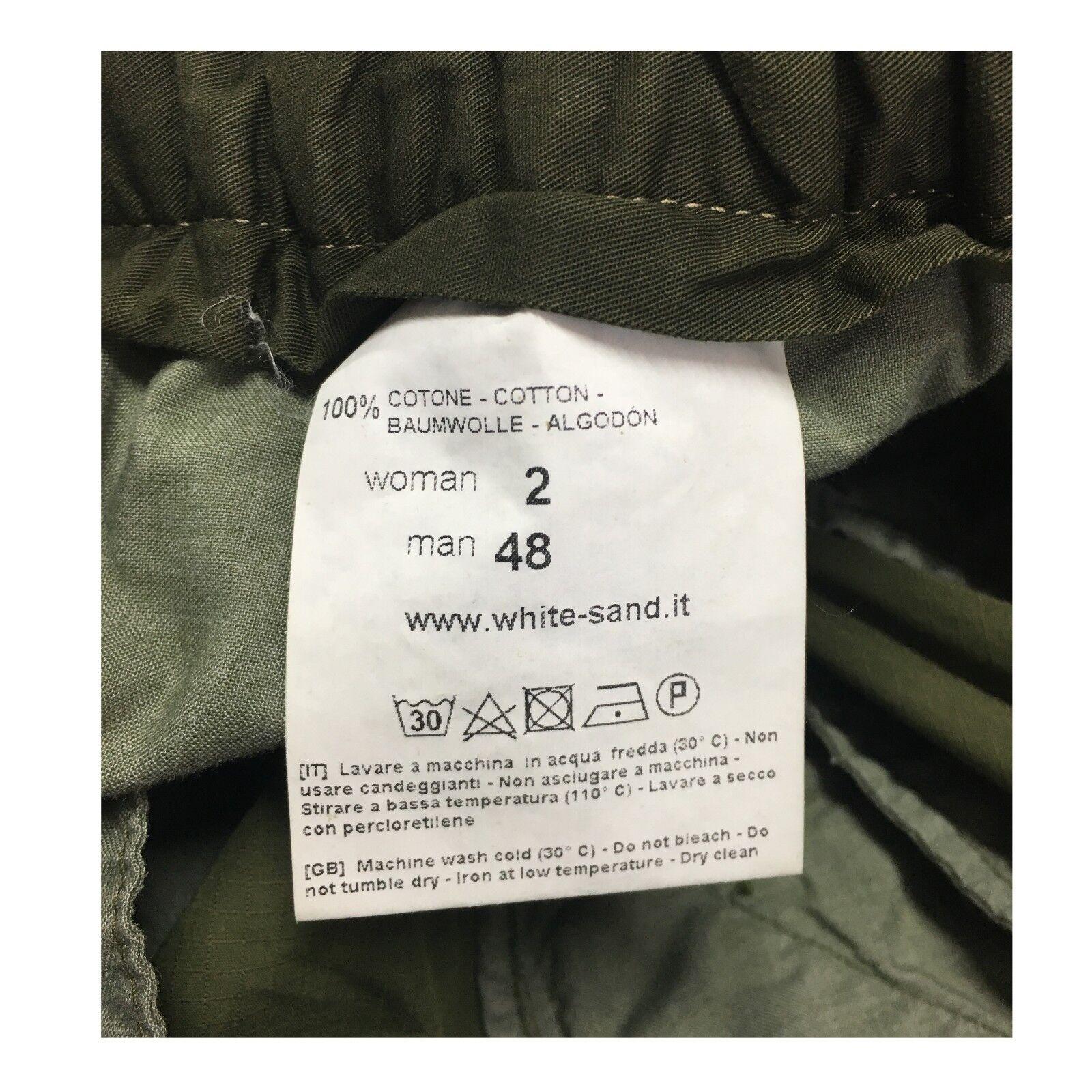 WHITE SAND pantalone     con tasconi mod 18SU15 280 100% cotone e61532