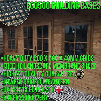 12x10 FEET HEAVY DUTY BUILDING BASE SHED GREENHOUSE CABIN PLASTIC GRAVEL GRIDS