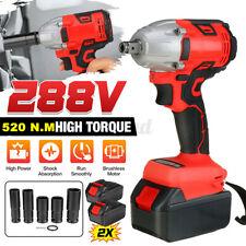 Electric Impact Wrench Gun Cordless 12 Driver 520 Nm Brushless 2 Batteries