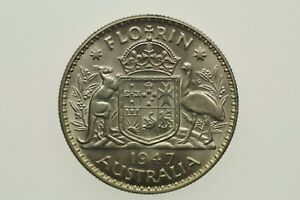 1947-Florin-George-VI-in-Uncirculated-Condition