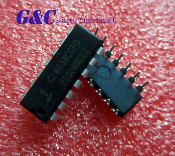 5PCS ICL8038 ICL8038CCPD INTERSIL IC OSCILL GEN/VOLT CONTROL 14DIP NEW D6