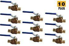 10 Pcs12pex Brass Heavy Duty Full Port Water Stop Shutoff Ball Valve Cupc Lf