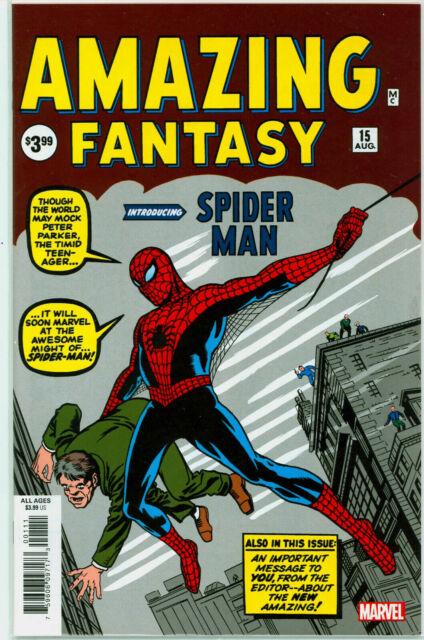 Amazing Fantasy #15 1st Spider-Man Stan Lee Steve Ditko Marvel Facsimile Reprint