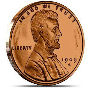 1-oz-Copper-Round-1909-S-VDB-Lincoln-Wheat-Cent