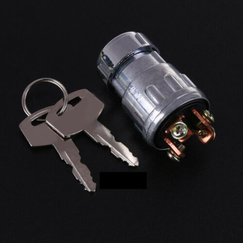 Universal Silver Car Forklift Tractor Ignition Switch Lock 4 Position 2 Keys