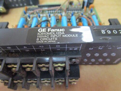 LOT OF 2 GE Fanuc IC610MDL125A 115VAC 8 Circuits Input Module